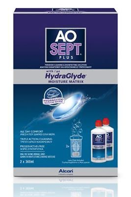 Aosept Plus Contact Lens Solution WITH HYDRAGLYDE 2 x 360ml 3 Month Pack