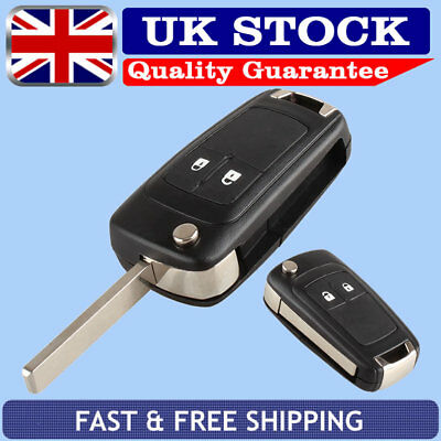 2 Button Remote Flip Key Fob Case Cover + Blade For Vauxhall Opel Astra Insignia