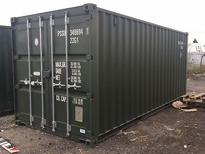 20ft x 8ft shipping Container - wind & water tight - various colours - NO VAT