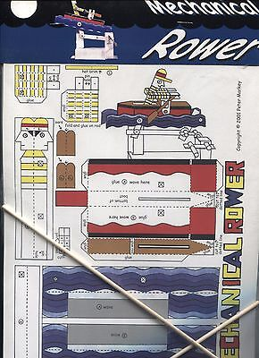 Mechanical Rower - Paper Toy / Optical Toys