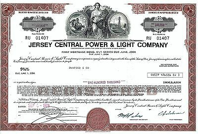 Jersey Central Power and Light Company, 1976, 9 3/4% Bond due 2006 (100.000 $)