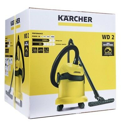 Karcher WD2 Tough Vac Wet And Dry Vaccum Cleaner - Yellow FAST AND FREE DELIVERY