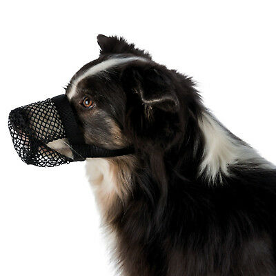 Dog Muzzle Poisoned Bait Protection adjustable Polyester allows panting sniffing