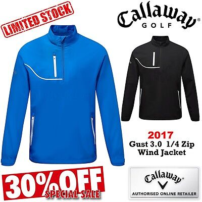 Callaway Golf Jacket Gust 3.0 1/4 Zip Long Sleeve Golf Wind Rain Golf Top Mens