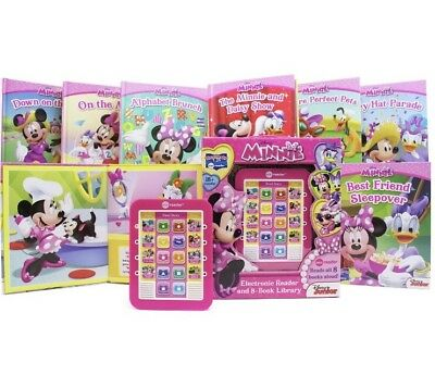 Disney Minnie Mouse Electronic Me Reader - 8 Books Library - Toy Book Store Gift
