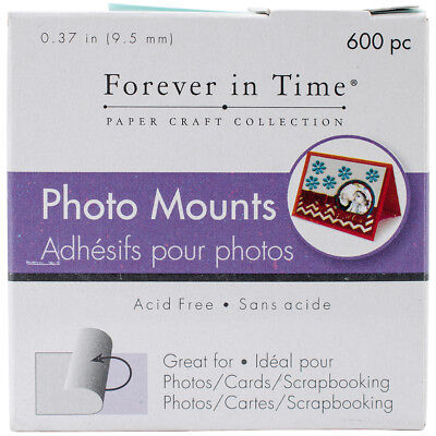 """Multicraft Photo Mounts .37"""" 600/Pkg Clear, Double Sided PC060"""