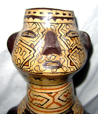 Rare Antique Shipibo Effigy Vessel Ceramic Pottery Ayahuasca Amazon Indian Peru