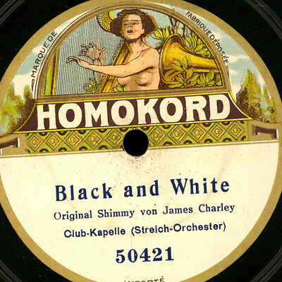 CLUB-KAPELLE Black and White / Indian Shimmy STREICH-ORCHESTER KARK  78rpm G3294