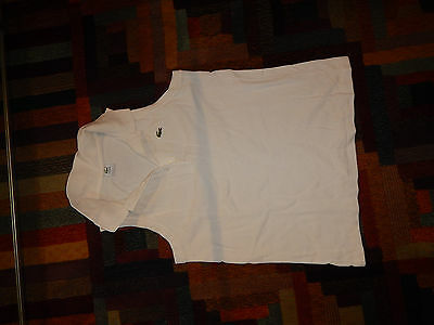 frau shirt LACOSTE women crop top sexy size 40 M short top sleeveless Used