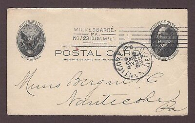 mjstampshobby 1903 US Postal Card Vintage Used (Lot4998)