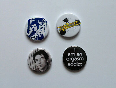 Four NEW REPRODUCTION Buzzcocks Badges [25mm 1inch] Punk Pete Shelley