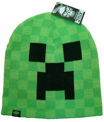 Minecraft Creeper Beanie Mine Craft Hat Official | BEANIE | Youth | M/L | Green