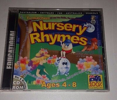 Eureka Software Nursery Rhymes Educational Pc Cd Rom For Ages 4-8