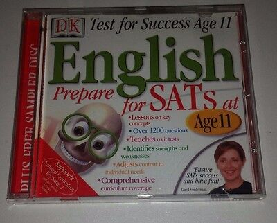 DK Test For Success Age 11 English Educational Pc Cd Rom - Prepare For SATs