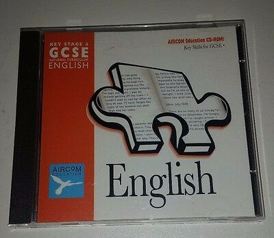 AIRCOM EDUCATION Key Stage 4 GSCE National Curriculum English Educational Cd Rom