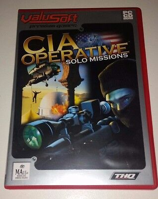 CIA Operative Solo Missions - PC CD-Rom Game