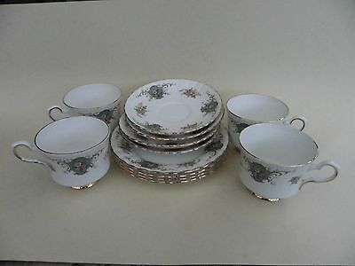 "Royal Stafford Bone China ""True Love"" Cup, Saucer & Side Plate, Set of 4."
