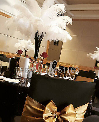 Newest White Ostrich Feathers 14-16 inch/35-40cm 10/50/100 PCS Wedding Carnival