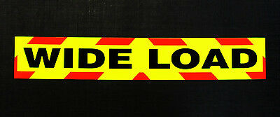 Wide Load Fluorescent Magnetic Warning Sign