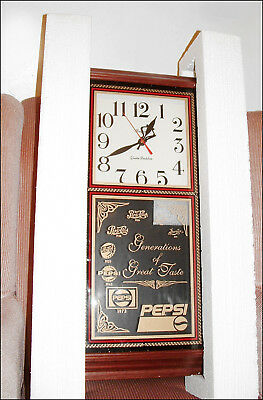 Vintage Pepsi-Cola Hanover Wall Clock Pepsi Logo's On Glass Front ~ Nos In Box