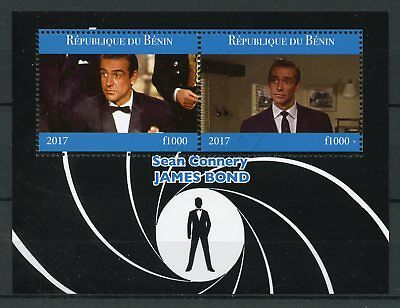Benin 2017 CTO James Bond Sean Connery 007 2v M/S Film Movies Cinema Stamps