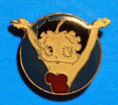 Betty Boop - Red Dress - Hands In The Air - Vintage Lapel Pin - Hat Pin