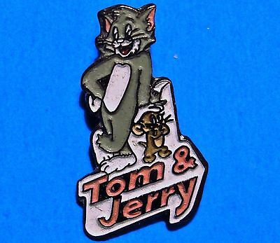 Tom & Jerry - Cat And Mouse Cartoon - Vintage 1993 Turner Ent. Lapel Pin - # B