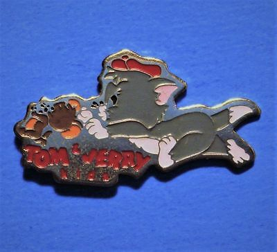 Tom And Jerry - Cat And Mouse Cartoon - Vintage Turner Ent. Lapel Pin - # C