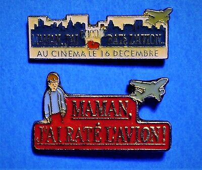 Home Alone Movie -  Macaulay Culkin - 2 Vintage Lapel Pins Lot - French Title