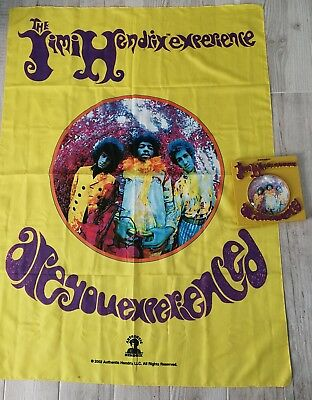 Jimi Hendrix Are You Experienced? Flag Poster & McFARLANE LP Album Collectable