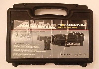 **NIB** Quik Drive PRO200G2 Autofeed Attachment for Drywall and Underlayment Fas