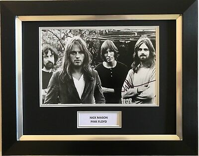 Nick Mason Hand Signed Autograph Framed Photo Display Pink Floyd 1.