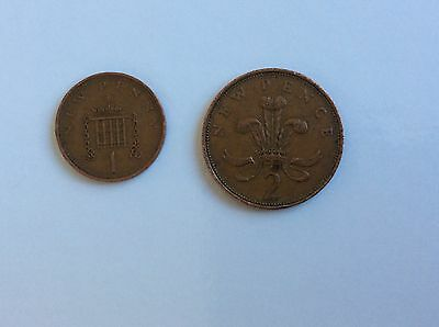 rare 2pence 1pence 1971 coin