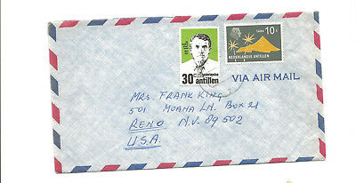 Curacao airmail cover to Reno Nv