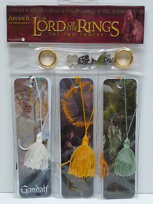 Lord Of The Rings Two Towers 6 Bookmarks & Charms Set w/ Hard to Find TREEBEARD