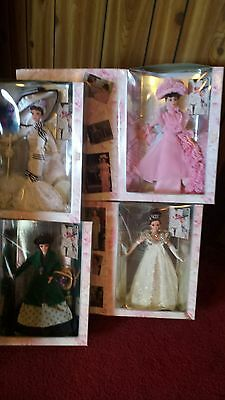 Hollywood Legends 1996 Barbie My Fair Lady- Complete Collection- Lot of 4 Dolls