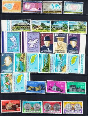 St Vincent & the Grenadines ;  40 mnh & 5 used