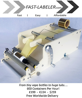 Fast Labeler. Bottle Labeling Machine. Easy, Fast and Affordable.