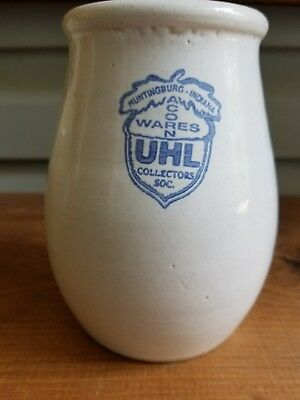 1996 Uhl Pottery Collectors Society Crock Vase Hand Turned