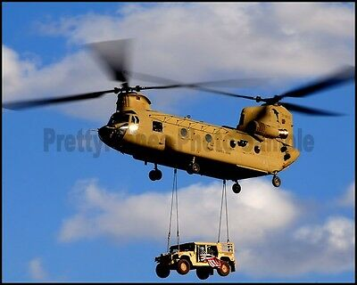 US Army CH-47 Chinook Helicopter Afghanistan 2010 8x10 Photo