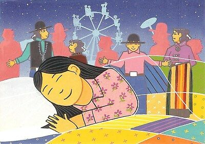 "12 Native American Notecards by Anthony Emerson, ""Dreaming of Shiprock Fair"""