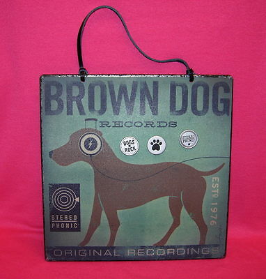 Demdaco BROWN DOG MEMO BOARD with 3 magnets  DOGS ROCK