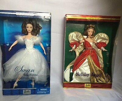 Vintage Collectible Barbie Lot - Ballet Series Ballerina & 2nd Holiday Angel