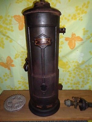 Antique Hercules #2572 Gas Water Heater Sear Roebuck Co Crane Swastika