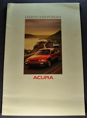 1989 Acura Catalog Sales Brochure Legend Integra Nice Original 89