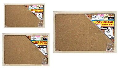 Cork Board Pins Corkboard Pinboard Notice Large Memo Wooden Frame Brand New