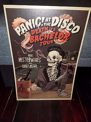 Panic At the Disco poster - 2017 Death Of A Bachelor tour poster Panic!