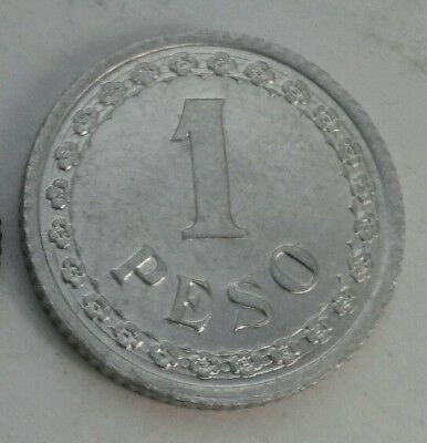 Paraguay 1 Peso 1938. KM#16. Aluminum One Dollar coin. One year issue