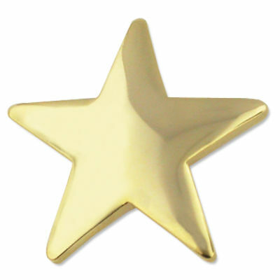 "star pin gold star lapel pin  3/4"" wide military clutch pin back gold star lapel"