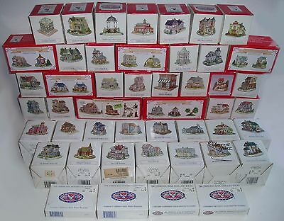 Huge Lot of 75 Liberty Falls Buildings & Pewter Figurines! - All Different!